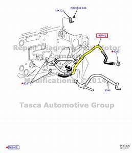 New Oem Heater Hot Water Hose Ford Taurus Mercury Sable 3