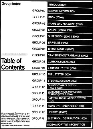 online car repair manuals free 1994 ford probe user handbook 1994 ford probe repair shop manual original
