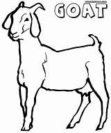 Goat Coloring Clipart Ausmalbilder Ziege Kostenlos Animal sketch template