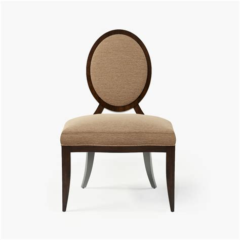 baker oval x back dining chair 3d model