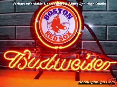 budweiser red light for sale mlb boston red sox budweiser neon light sign mlb