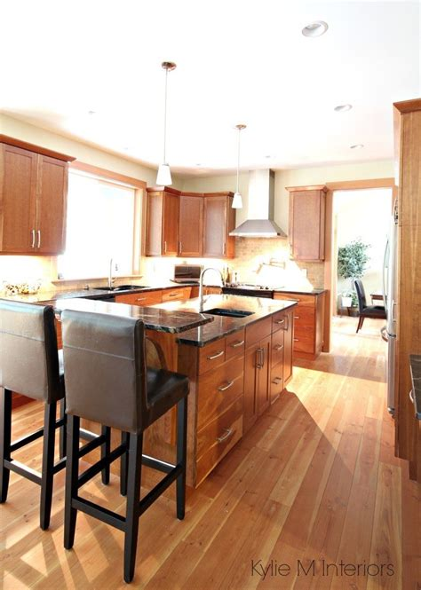 kitchen floors with cabinets a beautiful wood and granite kitchen design 8096