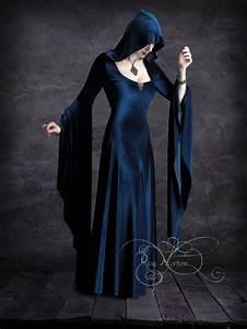 aislinn hooded vampire dress handmade bespoke dark romantic With robe de vampire