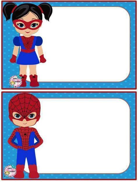 Pin by Lisette Reis on Etiqueta escola Super hero