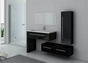 Meuble Simple Vasque : ensemble de meuble de salle de bain 1 vasque dis9251n ensemble de salle de bain noir distribain ~ Teatrodelosmanantiales.com Idées de Décoration