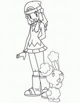 Pokemon Coloring Pages Dawn Printable Trainer Filminspector James Bubakids sketch template