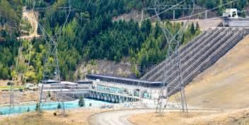 Hydro Power Generator Transmission Line Pylons Stock