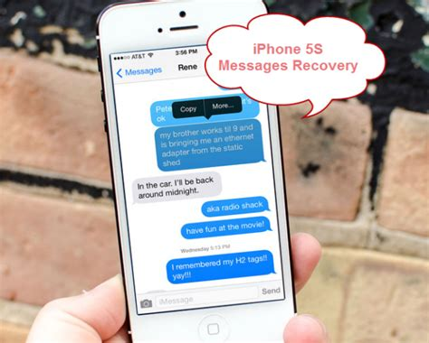 recovering text messages iphone recover text messages from iphone 5s with ifonebox