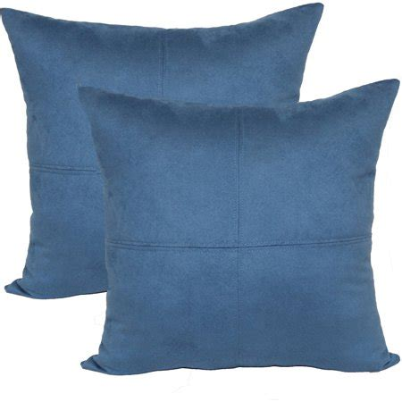 Throw Pillows For Walmart by Mainstays 4 Panel Suede Decorative Throw Pillow 17 Quot X 17