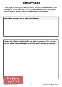 Goal Worksheet for Family Therapy