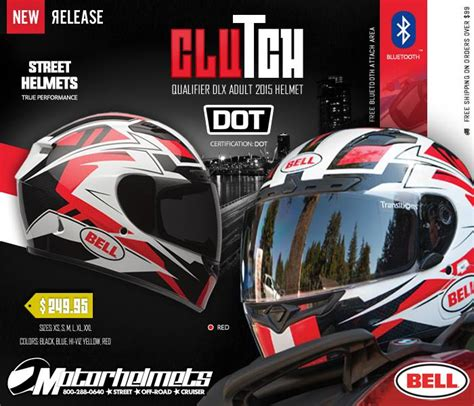 product ad poster march 2015 bell clutch qualifier dlx helmet motorhelmets library