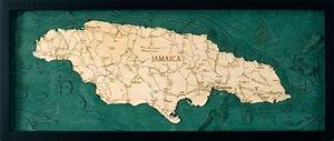 Cape Nautical Chart Jamaica Nautical Topographic Art Bathymetric Wood Chart