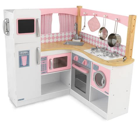 New Children's Pink Kitchen Oven Girls Pretend Play Set