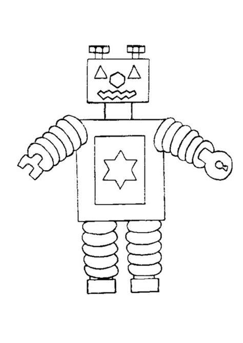 Tijdmachine Kleurplaat by Coloriage Robot Sur Hugolescargot