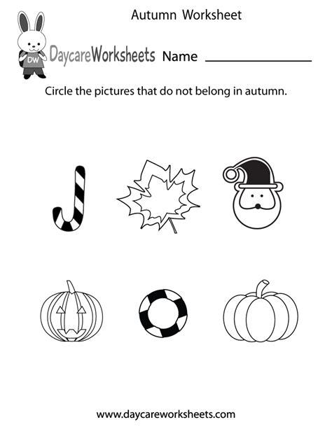 preschool autumn worksheet