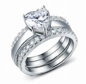 2ct consummate wedding set sona synthetic diamond ring With wholesale wedding ring sets