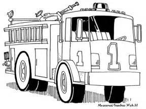 Gambar Mewarnai Mobil Pemadam Kebakaran Truk Rebanas Buy Belajar Molen