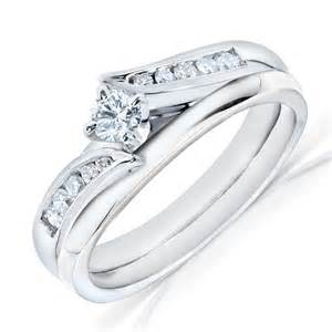 white gold wedding rings sets for him and half carat wedding ring set in white gold on sale jewelocean