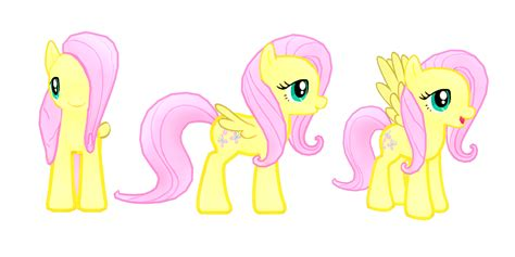 My Little Pony Mobile Game Fluttershy Model.png