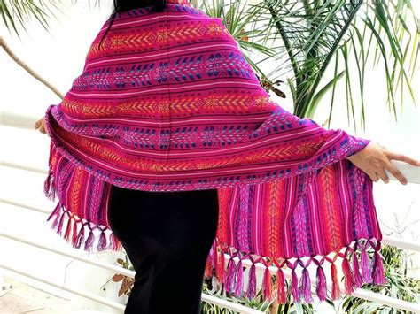 Mexican woven rebozo scarf / Traditional woven fabric ...