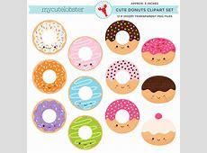 Doughnut clipart kawaii Pencil and in color doughnut