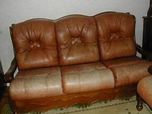 Bon Coin Poitou Charentes : vends 1 canap lit 2 fauteuils en cuirs marrons bois hetre ~ Gottalentnigeria.com Avis de Voitures