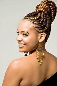 Coiffure Tresse Africaine : coiffure africaine tresses coupe cheveux long ~ Nature-et-papiers.com Idées de Décoration