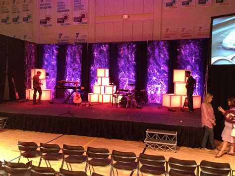 diffuse  light boxes church stage design ideas