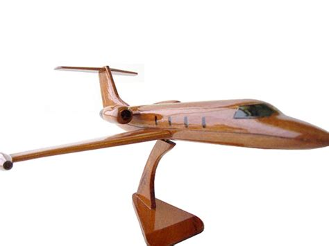premium wood designs lear jet