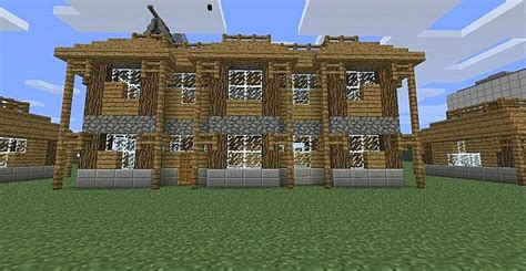 wooden house maison en bois minecraft project
