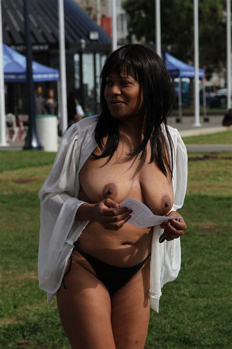 Protest Porn Pic From Black Woman Protesting Naked
