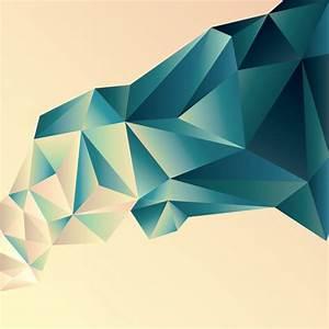 3D geometric shape art background vectors set 04 - Vector ...