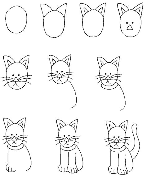 how to draw a cat step by step how to draw pets