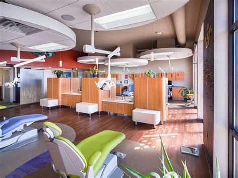 pediatric dental office open bay  soffits open bay