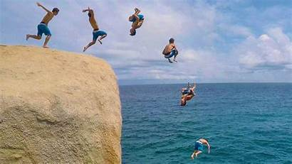 Jumping Cliff Jump Meaning Thailand Land Dream