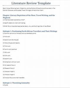 Format of review of literature best and reasonably for Template for writing a literature review