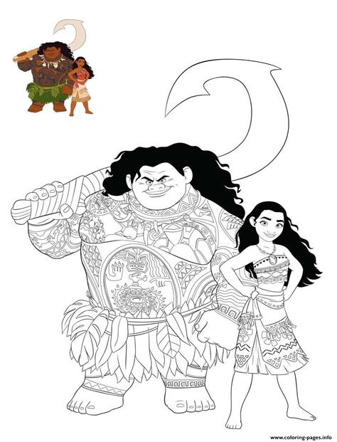 moana  maui color coloring pages printable