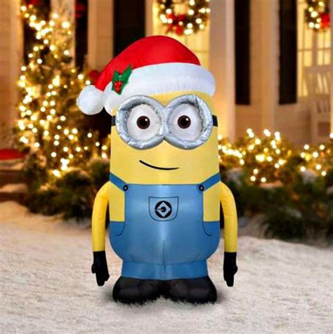 inflatable christmas decorations despicable  minion