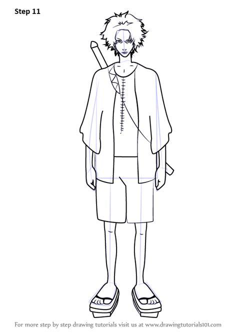 learn   draw mugen  samurai champloo samurai