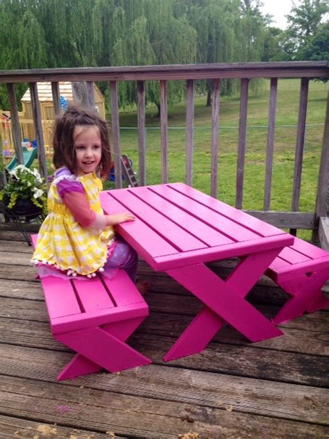 ana white kids modern picnic table diy projects