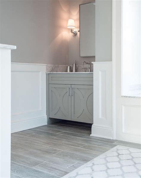 Grey Wood Tile Bathroom by Connor Design Bathrooms Benjamin San