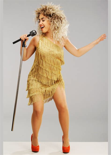 tina turner gold dress  dresses