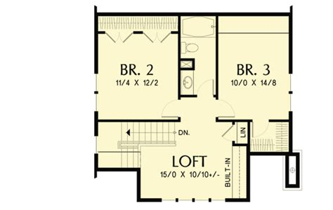 open floor house plans with loft bungalow with open floor plan loft 69541am