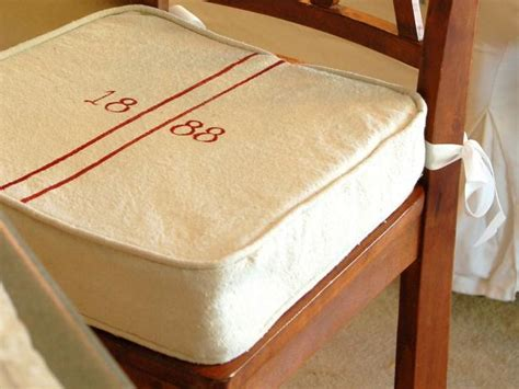 Inexpensive Boat Cushions by Diy Grain Sack Kitchen Barstool Cushions Hgtv