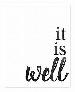It Is Well With My Soul Home Decor Sign Free Printable