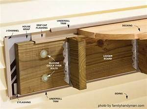 What Should I Do On The Sides Of A Deck Ledger