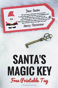 santa39s magic key free printable tag the purple With letter from santa with magic key