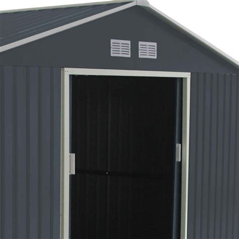gartenhaus metall anthrazit gartenhaus aus metall 10 85m 178 plus anthrazit verankerungskit x metal