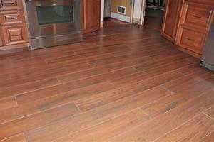 Wood tile floor- Kitchen New Jersey Custom Tile