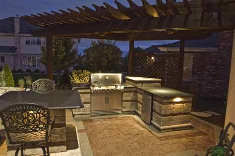 outdoor kitchen lights kitchen bars and grills outdoor lighting in chicago il 1305